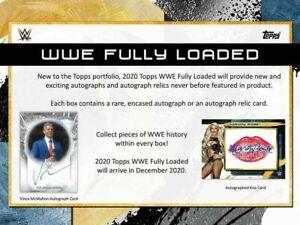 2020 Topps WWE Fully Loaded HOBBY Box FACTORY SEALED 1 AUTO per box