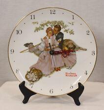 Fairmont Norman Rockwell Decorative Plate Clock Perfect Porcelain Item #633174