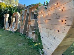 4ft Wooden Rustic LOVE letters for Hire