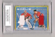 2000 Ultimate Mem. Hockey PATRICK ROY & JAQUES PLANTZ GU Goalie Jerseys # /30