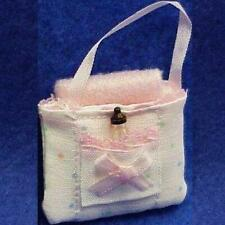 Dollhouse Baby Tote Bag MAX7P By Barb Blanket Bottle Pink Lace Miniature