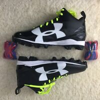 Under Armour Crusher RM Football Cleats Size 12 US Black White 1286600-001 New
