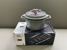 New listing Staub Cocotte Round 14cm /0.8L /0.75Qt Graphite Gently Used