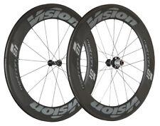 VISION Metron 81 TL Carbon Clincher TT/Tri Road Bike Wheel Set 700c NEW
