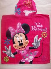 BRAND NEW GIRLS MINNIE MOUSE PINK HOODED BEACH//BATH COTTON TOWEL