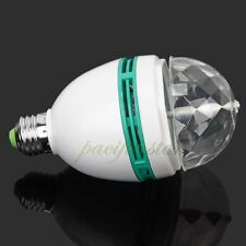 New Florid E27 3W Colorful Rotating RGB LED Stage Disco Party Crystal Bulb Light