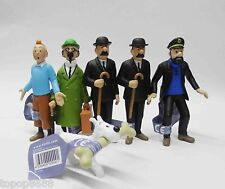 6pc the Adventures of Tintin Explorers statue Collection figure NEW loose no box