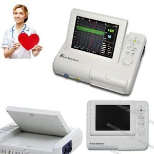 Hot Fetal Monitor Prenatal Heart FHR TOCO Fetal Movement Ultrasound+Printer,FDA