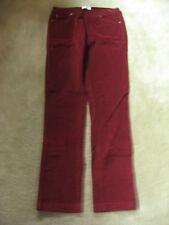 Pajama Jeans Women's XS Merlot Pull On Drawstring Waist Corduroy Knit Jeans