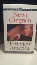 NEWT GINGRICH TO RENEW AMERICA ON AUDIO CASSETTES. (NEW)