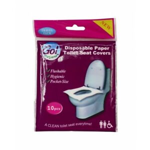 Disposable Paper Toilet Seat Cover x10
