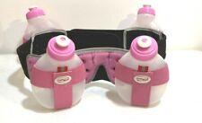 Fuel Belt 2 Water Bottle Pink/Gray Hiking Running Hydration Storage Belt System