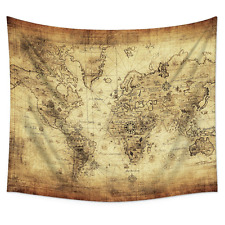 Uphome Antique Map of the World Wall Tapestry Hanging – Light-weight Poly