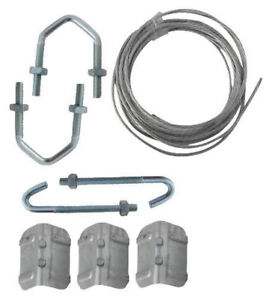 "TV Aerial fixing Chimney Bracket Lashing wire Repair Kit with 2.5"" U V bolts"