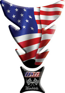 Keiti Motorcycle Street Bike Tank Pad Protector American Flag KT004 Multicolored