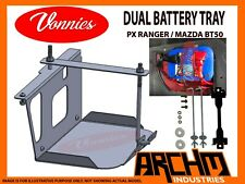 VONNIES-FORD RANGER PX+PX2+PX3 REAR UNDERSEAT DUAL BATTERY TRAY SYSTEM   2011-ON