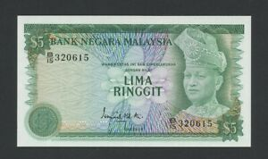 MALAYSIA  $5 1976  Krause 14a  Uncirculated Banknotes