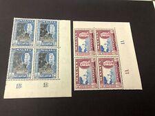 Malaya Kelantan 1957 50C + $1 Plate Block 4 MNH  Malaysia