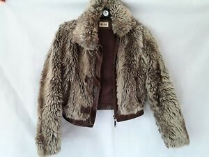 River Island Ladies Size 8 Faux Fur Bomber Jacket