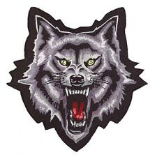 Lethal Threat Motorcycle Bike Jacket Embroidered Patch WOLF HEAD MN32014 MINI