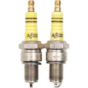 Pair Of Accel U-Groove Spark Plugs For Harley-Davidson Twin Cam & Evo Sportster