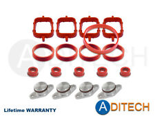 4 x 22 mm SWIRL BLANKS FLAPS repair delete kit with intake gasket for BMW M47
