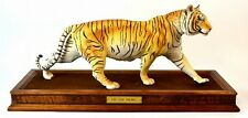 Franklin Mint -  On The Prowl Bengal Tiger Sculpture - 1988 By George Mcmonigle