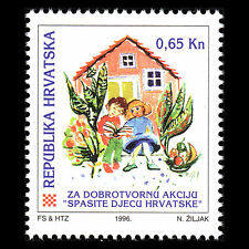 Croatia 1996 - Charity Tax stamp Children's Found Art - Sc RA72 MNH