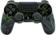 """420 BLACK"" Ps4 Custom UN-MODDED Controller Exclusive Unique Design CUH-ZCT2"