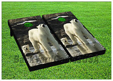 Vinyl Wraps Polar Bears Cornhole Boards Decals Bag Toss Game Stickers 771