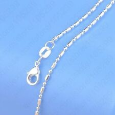 1PCS 30 inch 925 Sterling silver plating Ball Chain Necklaces Wholesale