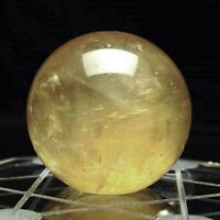 40mm Rare NATURAL CITRINE QUARTZ DIY CRYSTAL SPHERE BALL HEALING GEMSTONE Gifts