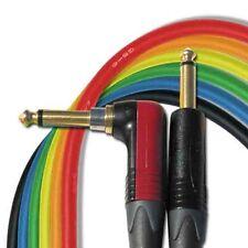 """(1)18' Canare GS6 Guitar """"BLACK"""" Cable w/Neutrik Silent Plug NP2RX-AU ¼ - NP2X-B"""