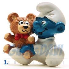 PUFFO PUFFI SMURF SMURFS SCHTROUMPF 2.0205 20205 Baby Bimbo con Orsetto 1A