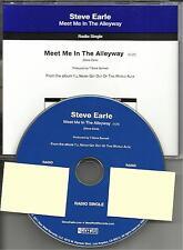 STEVE EARLE Meet Me in the Alleyway RARE 2011 PROMO Radio DJ CD single MINT
