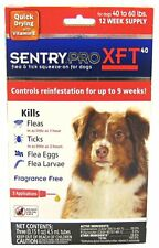 Sentry PRO XFT Dog Flea and Tick Medicine 3 Month Supply 40 to 60 Pounds lbs