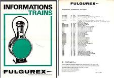 [35698] 1974 FULGUREX MODEL RAILROAD TRAINS PRICE LIST