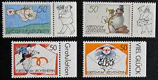LIECHTENSTEIN - timbre/stamp Yvert et Tellier n°982 à 985 n** (cyn5)