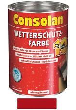 Consolan Wetterschutz-Farbe Rot 2,5 Liter NEUWARE Art. Nr. 5083178