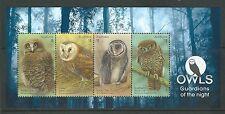 AUSTRALIA 2016 OWLS MINIATURE SHEET UNMOUNTED MINT