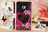 FLIP WALLET PU LEATHER CASE STAND COVER FOR SAMSUNG GALAXY S5 S6 S7 S7E S8 S9 +