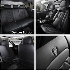 Deluxe Edition Breathable PU Leather Seat Cover Cushion Full Set For 5 Seat Car