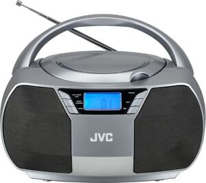 JVC RD-D228H BOOMBOX GREY CD PLAYER FM RADIO MAINS OR BATTERY POWERED AUX IN