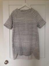 Toast Tunic Dress Top Heavy Sweatshirt Stripe Grey Cream White Minimal 12