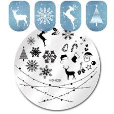 Christmas Nail Stamping Plates Snowflake Deer Nail Art Image Templates ND-029