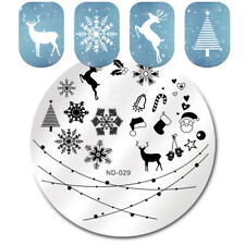 Xmas Christmas Nail Stamping Stamp Plates Snowflake Festival  ND-029