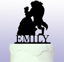 Beauty and the Beast  Acrylic Cake Topper - Girls Birthday - fairytale