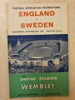 1959 ENGLAND v SWEDEN - FRIENDLY INTERNATIONAL @ WEMBLEY 28th October