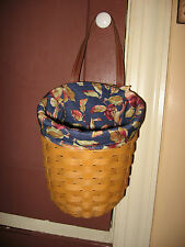 NEW Longaberger Early Harvest (Apples) Fabric Liner 4 Your Large Foyer Basket