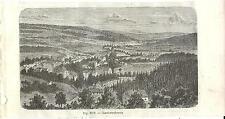 Stampa antica JEDLINA-ZDROJ Polonia Polska 1889 Old antique Print antyk druku